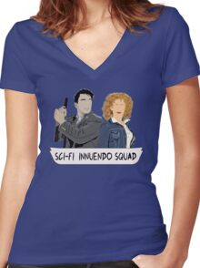 Sci-fi Innuendo Squad Women's Fitted V-Neck T-Shirt