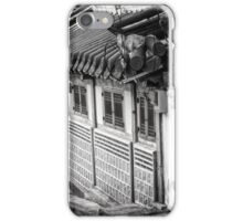 South Korean Hanok Street BW iPhone Case/Skin