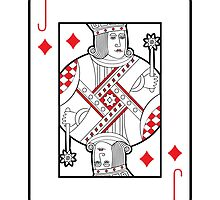 Single playing cards vector: Jack of Hearts by rlmf