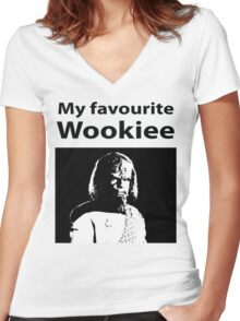 My favourite Wookiee Women's Fitted V-Neck T-Shirt