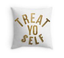 Treat Yo Self Parks and Rec Throw Pillow