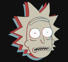 Rick and Morty: 3D Rick by Wellshirt