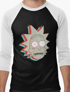 Rick and Morty: 3D Rick Men's Baseball ¾ T-Shirt