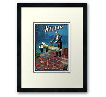 Keller the magician Poster Art Framed Print
