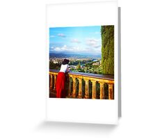 Watching Florence Greeting Card