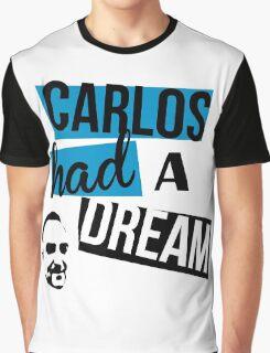 Carlos Had A Dream - White Graphic T-Shirt