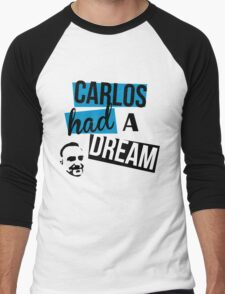 Carlos Had A Dream - White Men's Baseball ¾ T-Shirt