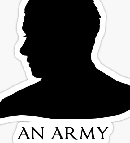 An Army Doctor. Sticker