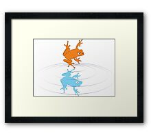 A Frog Out of Water Framed Print