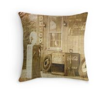 Coke and the Country Road Throw Pillow
