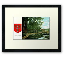 ca 1900 Lexden Colchester and coat of Arms Framed Print