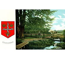 ca 1900 Lexden Colchester and coat of Arms Photographic Print