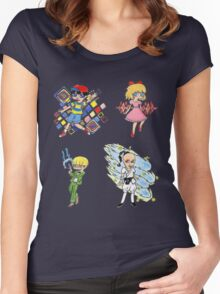 Earthbound-The Chosen Four Women's Fitted Scoop T-Shirt