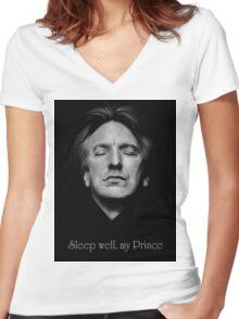 RIP - Alan Rickman - Sleep well my Prince 2 Women's Fitted V-Neck T-Shirt