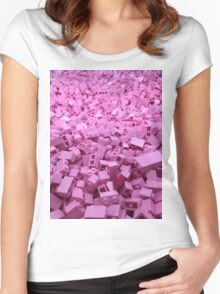 Pink legos Women's Fitted Scoop T-Shirt