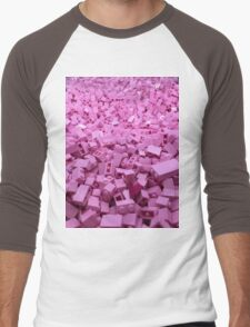 Pink legos Men's Baseball ¾ T-Shirt