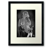 Lady Framed Print
