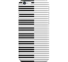 The Piano Black and White Keyboard with Horizontal Stripes iPhone Case/Skin