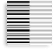 The Piano Black and White Keyboard with Horizontal Stripes Canvas Print