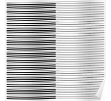 The Piano Black and White Keyboard with Horizontal Stripes Poster