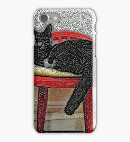Cat In Chair #1b iPhone Case/Skin