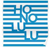 Honolulu Stripes Poster