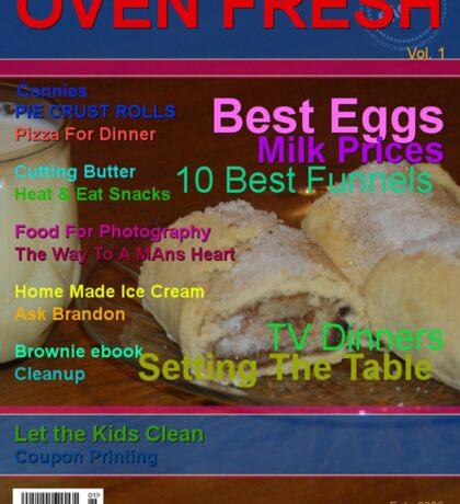 Moms Baking Magazine Sticker
