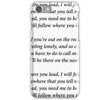 Gilmore Girls Theme Lyrics iPhone Case/Skin