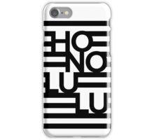 Honolulu Stripes Black iPhone Case/Skin