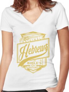 The Original Hebrews | The Bible's Our History Women's Fitted V-Neck T-Shirt