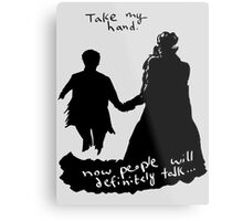 Take My Hand Metal Print