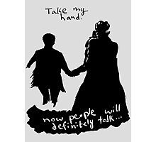 Take My Hand Photographic Print