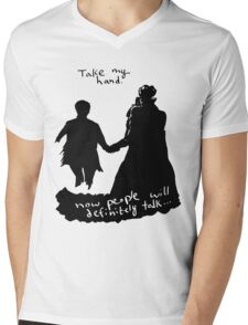 Take My Hand Mens V-Neck T-Shirt