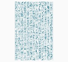 Hieroglyphics Moonstone BLUE One Piece - Short Sleeve
