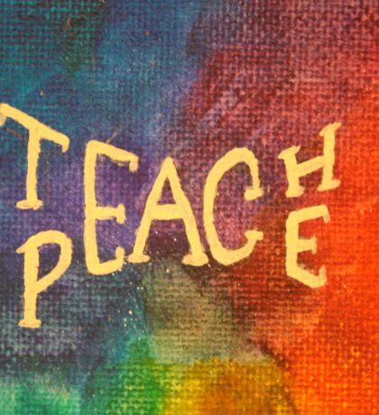 Watercolor Teach Peace Sticker