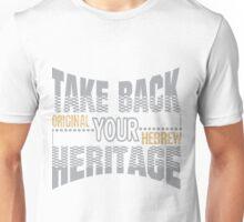 Take Back Your Heritage   Original Hebrew  Unisex T-Shirt