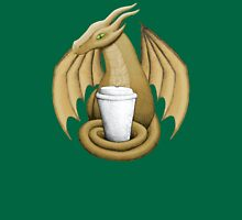 Latte Dragon (green eye) Unisex T-Shirt