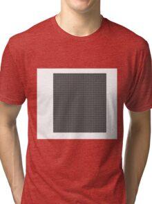 Retro Squares Pattern Tri-blend T-Shirt