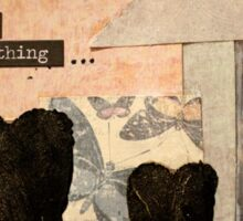 Doubt everything collage Sticker