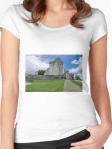 Ross Castle, Kerry ,Ireland  Women's Fitted Scoop T-Shirt