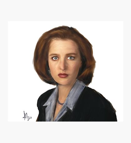 Special Agent Dana Scully Photographic Print