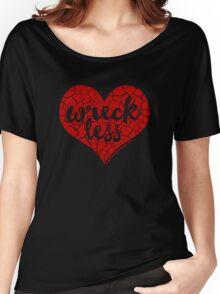 """""""Wreck Less Heart"""" RED HOT Logo Women's Relaxed Fit T-Shirt"""