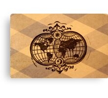 Map of the world  Canvas Print