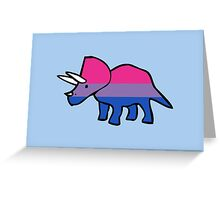Biceratops (Bisexual Triceratops) Greeting Card