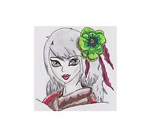 Geisha Girl (Alix Kol) - The Red Paintings by MollieStar13