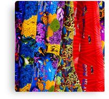 Patterned Cook Island s fabric Canvas Print