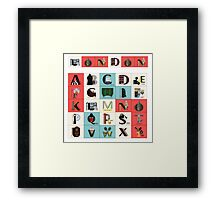 London Alphabet Framed Print