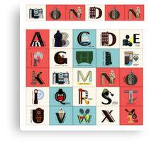 London Alphabet Canvas Print