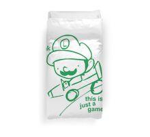 Luigi Death Stare Duvet Cover