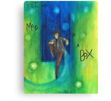 DW: I am a Mad Man with a Box Canvas Print